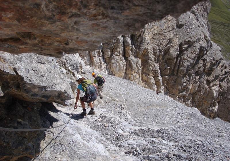 Klettersteig Piz Mitgel : Piz mitgel 3159