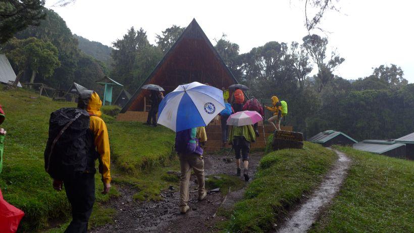 Ankunft Marangu Hut