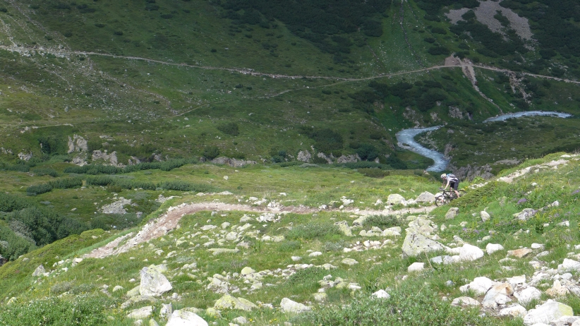 Steilere Passage