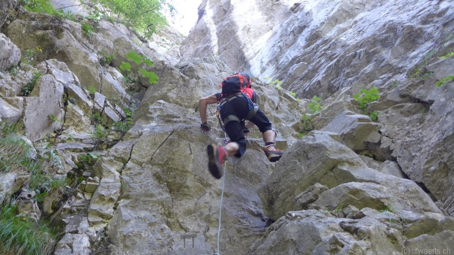 Klettersteig Netstal : Klettersteig
